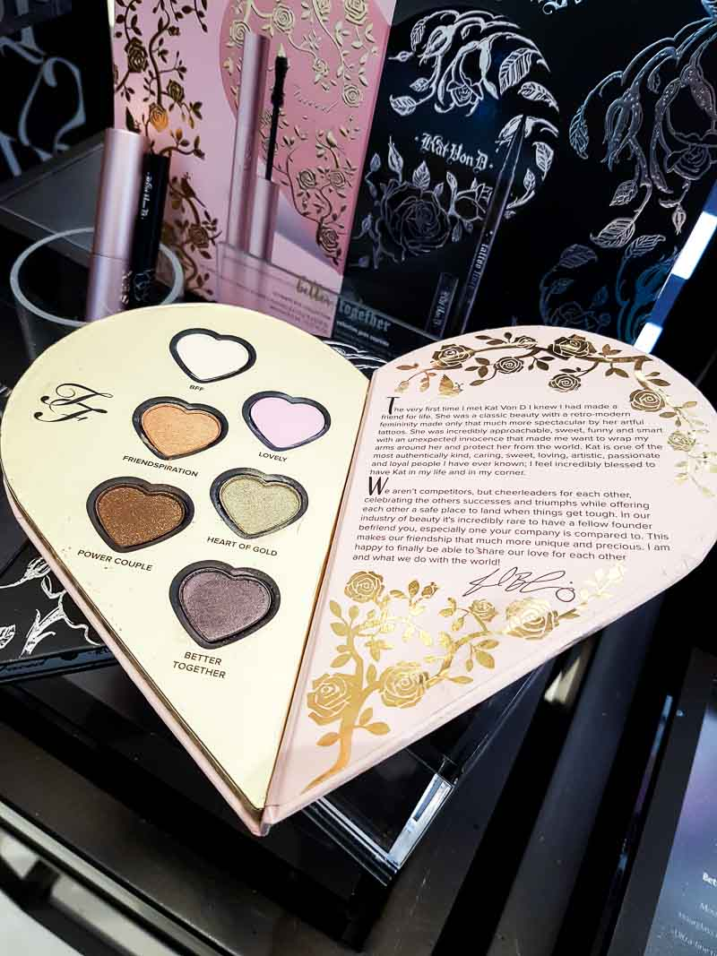 Too Faced x Kat Von D Better Together Ultimate Eye Collection Palette - Swatches