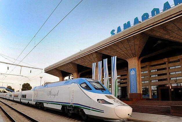 Высокоскоростной поезд совершил первый рейс из Ташкента в Бухару