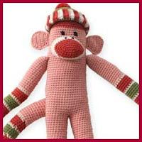 Mono rosa amigurumi
