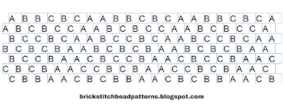 Free Brick Stitch Bracelet Pattern Word Chart Download