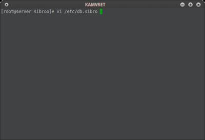 Lalu buat file zona forward di /etc/db.sibro dan tambahkan script konfigurasi di bawah ini ke db.sibro dan edit sesuai topologi jaringan anda