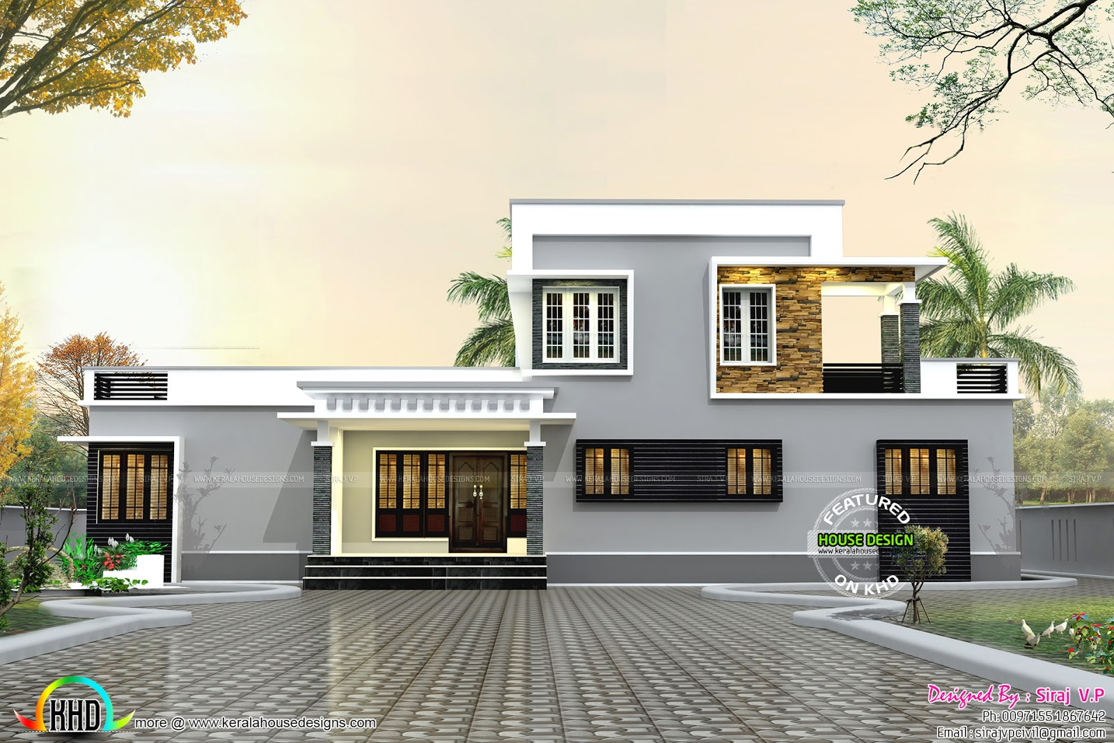house front view - Get Small Budget House Design In Kerala Background