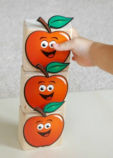 Ten Apples Up On Top Counting and Stacking Dr. Seuss Preschool activity