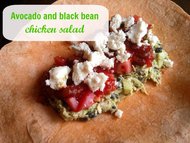 avocado and black bean chicken salad