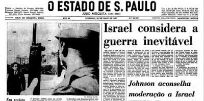 Antes da Guerra dos Seis Dias, Israel temia um novo Holocausto