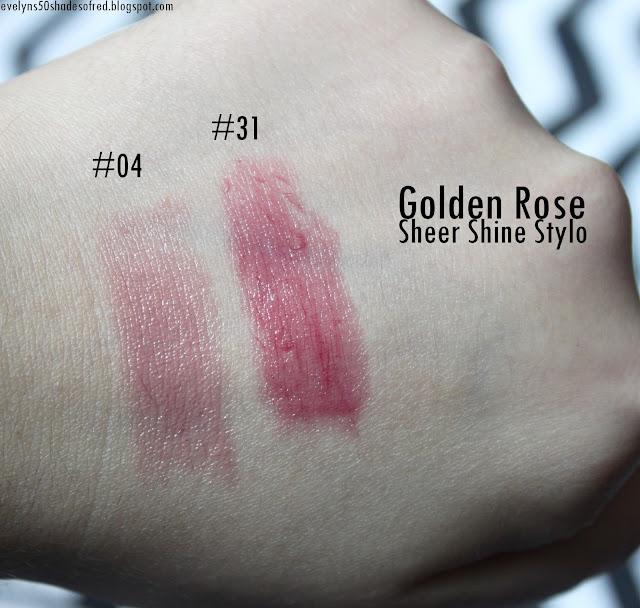 Golden Rose Sheer Shine Stylo Lipstick #04 #31