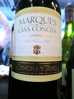 Concha y Toro Marques de Casa Concha Carmenère 2014 (88+ pts)