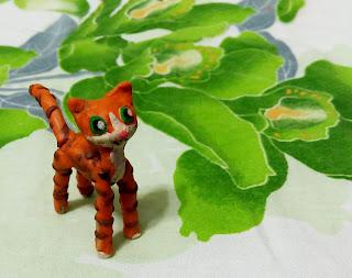 Настин пластилиновый котёнок
