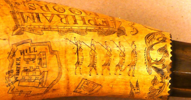 Francois Illas New Tradition: Boston 1775: A Close Look At Ephraim Moors's Powder Horn