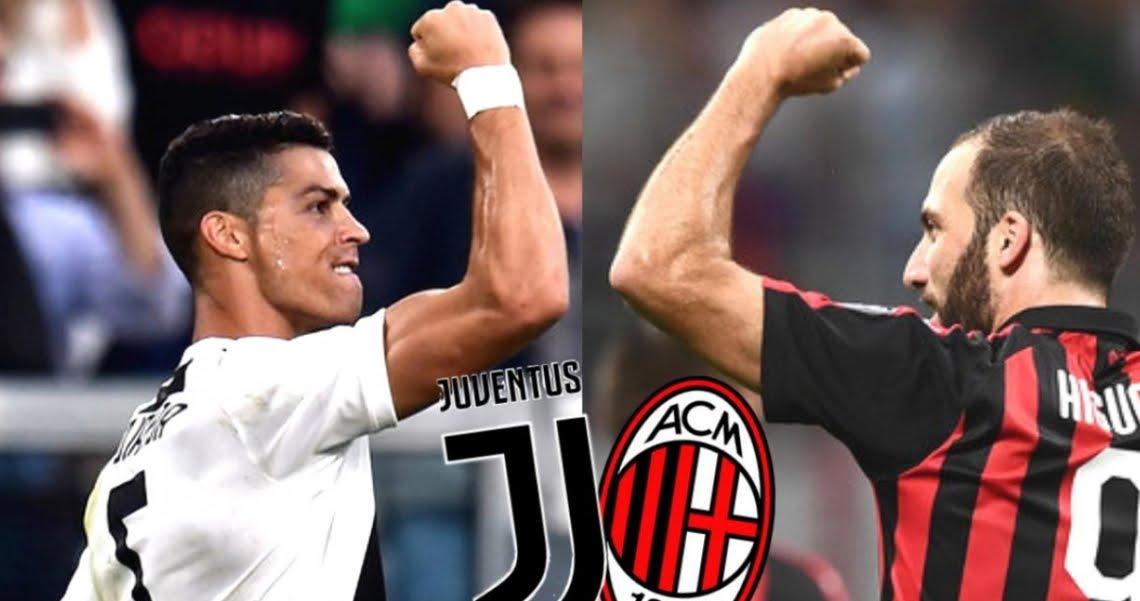 Dove Vedere MILAN JUVENTUS Streaming con CR7 Cristiano Ronaldo e Higuain