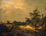 Peasant Cottages in Dunes by Jacob Isaaksz van Ruisdael - Landscape Paintings from Hermitage Museum