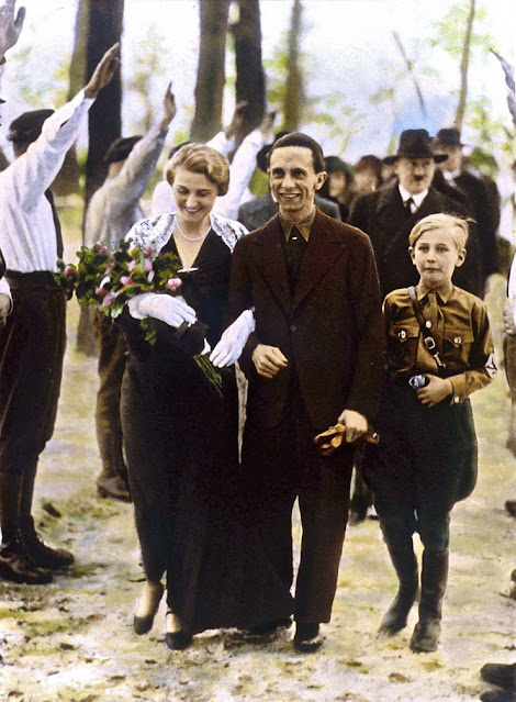 The wedding of Joseph and Magda Goebbels, color photos worldwartwo.filminspector.com