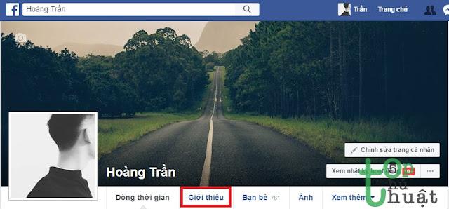Truy cập trang cá nhân Facebook
