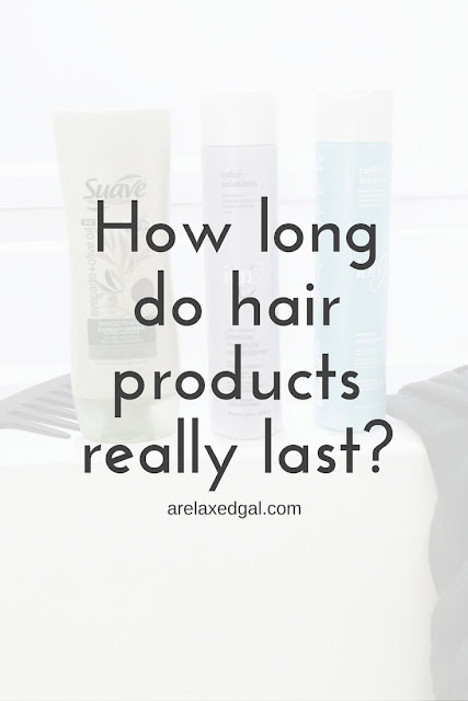 Hair tip: How long hair care products really last | arelaxedgal.com