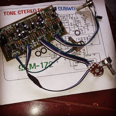 Completed making tone control circuit