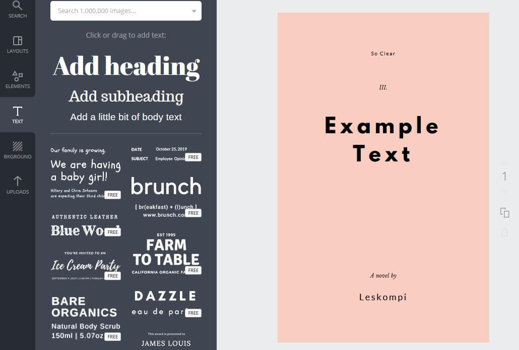Setting font Wattpad Canva