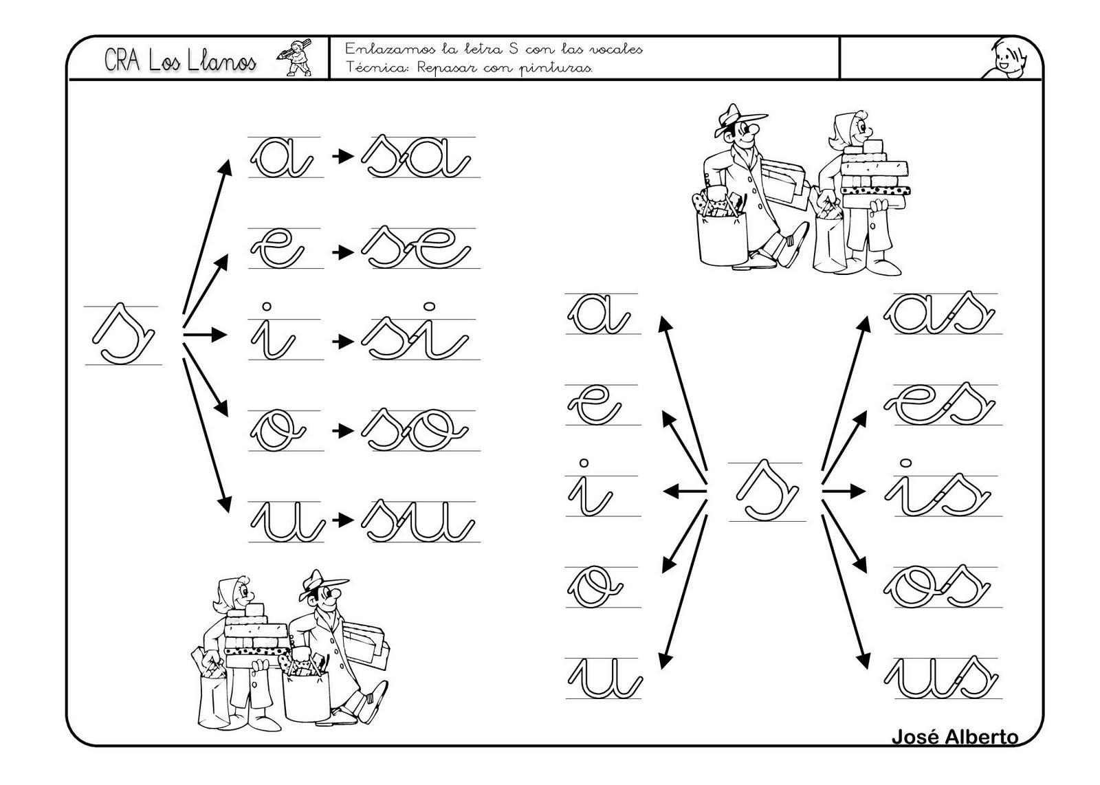 El TIC Tac De Infantil: Fichas Escritura Letra S