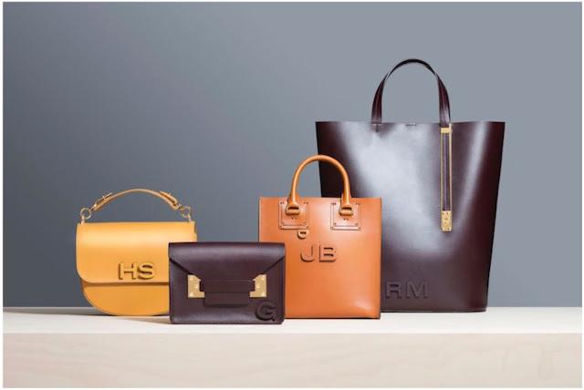 Monogrammed bags by Sophie Hulme