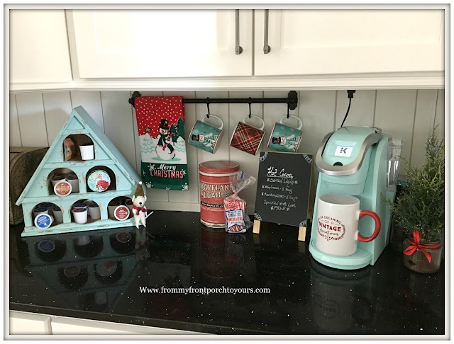 Farmhouse Christmas Kitchen-Hot Chocolate Station-From My Front Porch To Yours
