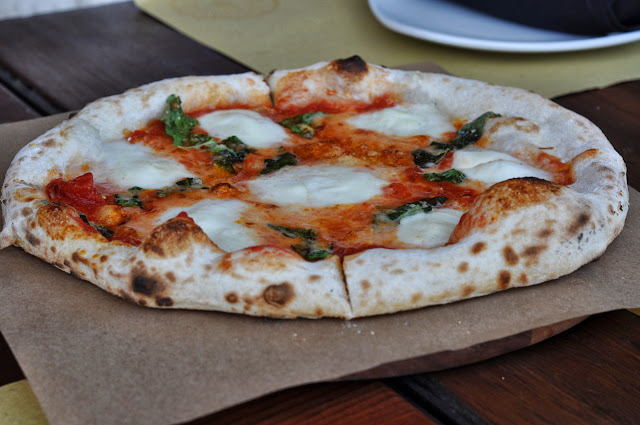 Margherita Pizza at Ca' Momi at Oxbow Public Market in Napa, CA
