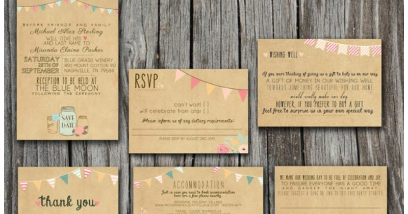 I Want To Design My Own Wedding Invitations: Whimsical Print-Your-Own Vintage Wedding Invitations