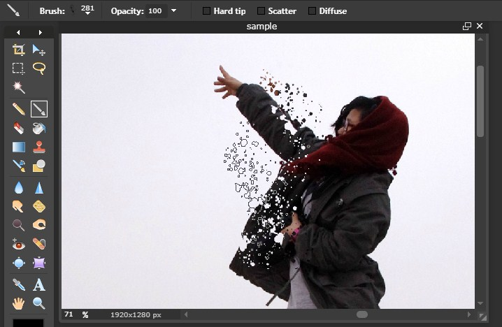 foto manipulasi splatter