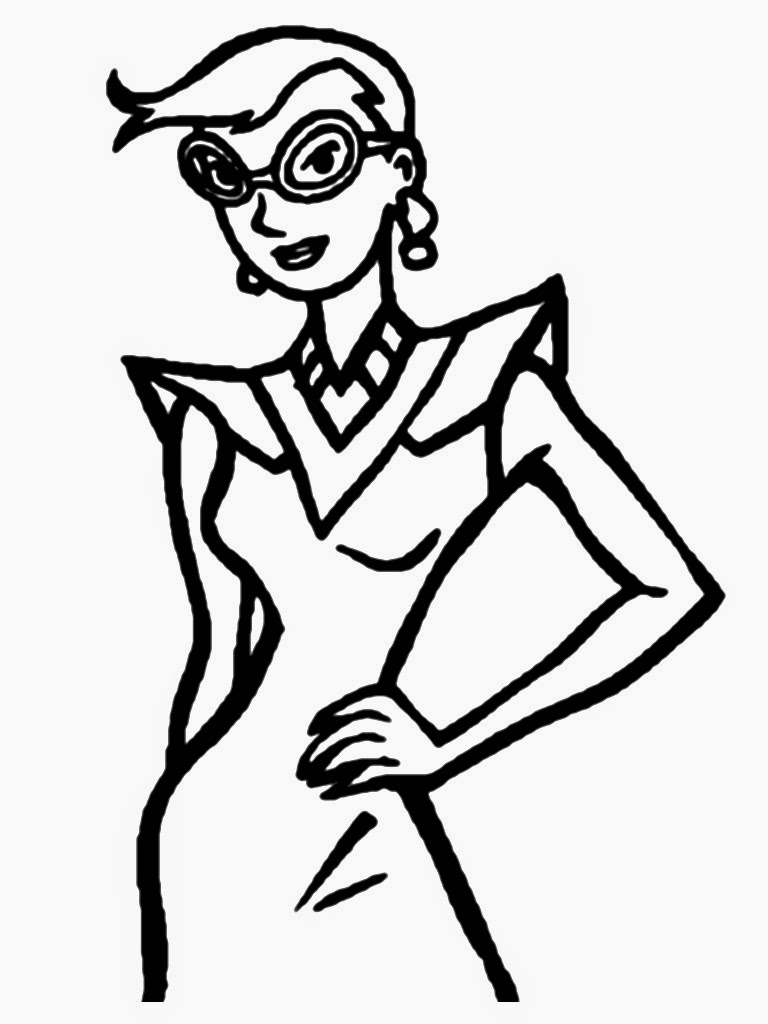 Model Coloring Pages