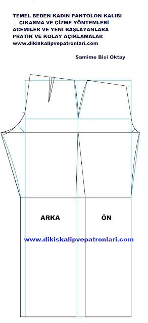 temel pantolon kalıbı nasıl çıkarılır?