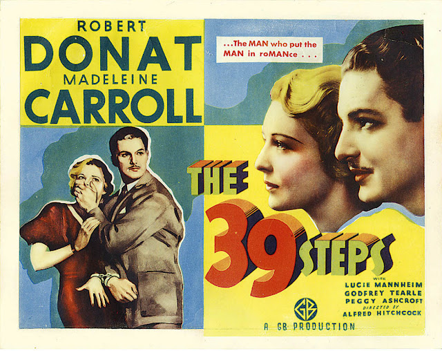 Original film poster for The 39 Steps