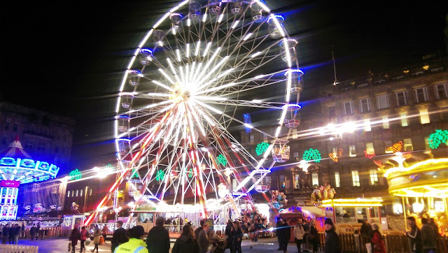 Glasgow's George Square at Christmas