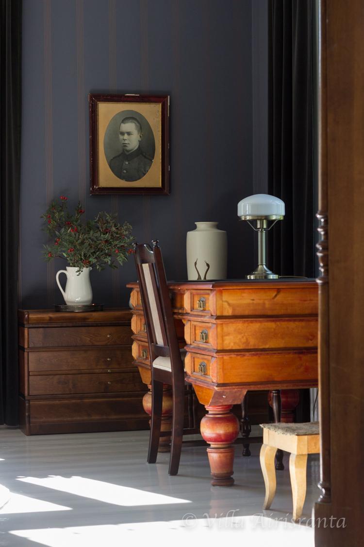 maalaisromanttinen, vanha talo, sisustus