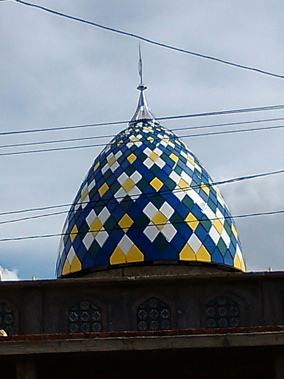 Kubah Masjid di Lahat, Sumsel