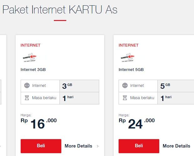 Kode Paket Internet Kartu As Murah Terbaru 2019