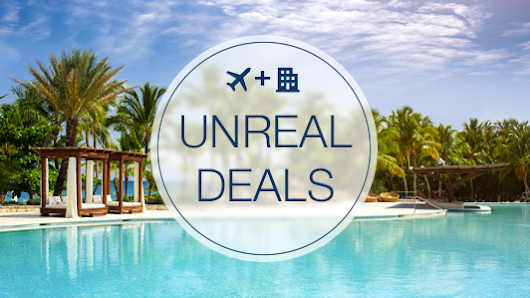 Unreal Deals - Save 100% on your Flight, Hotel, or 1 Night's Stay at Expedia!