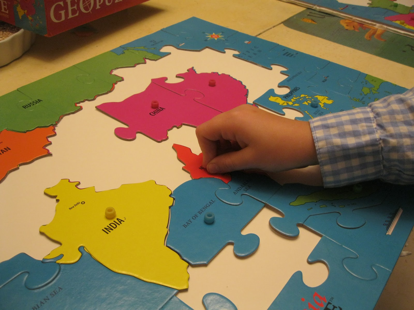 Montessori Messy Geography On The Cheap Part 2