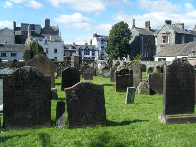 Moffat, graveyard, dead, headstones, burials
