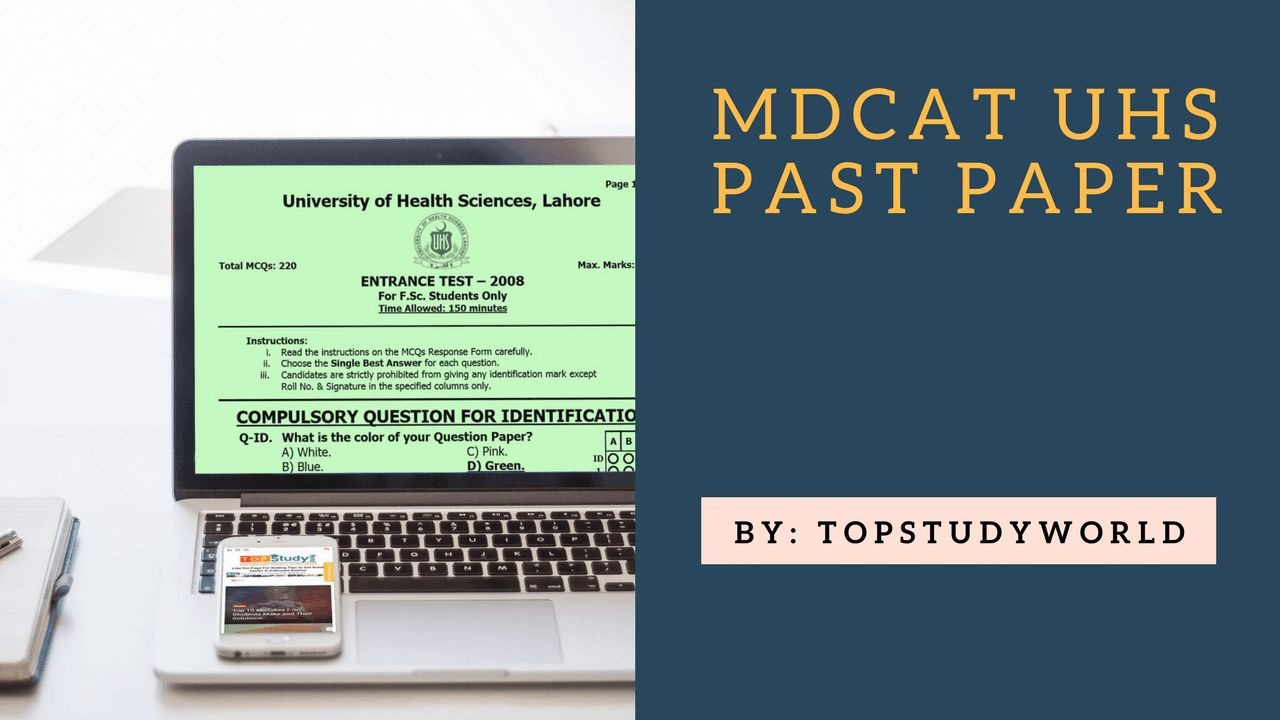 MDCAT (MCAT) Past Paper 2008-2017 with Answer Key in PDF | Top Study