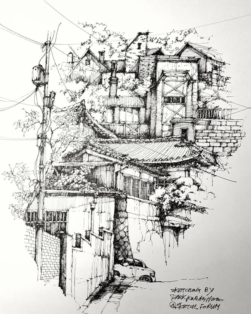 01-Park-Kwang-Hee-Architectural-Sketches-Interior-Exterior-Old-and-New-www-designstack-co