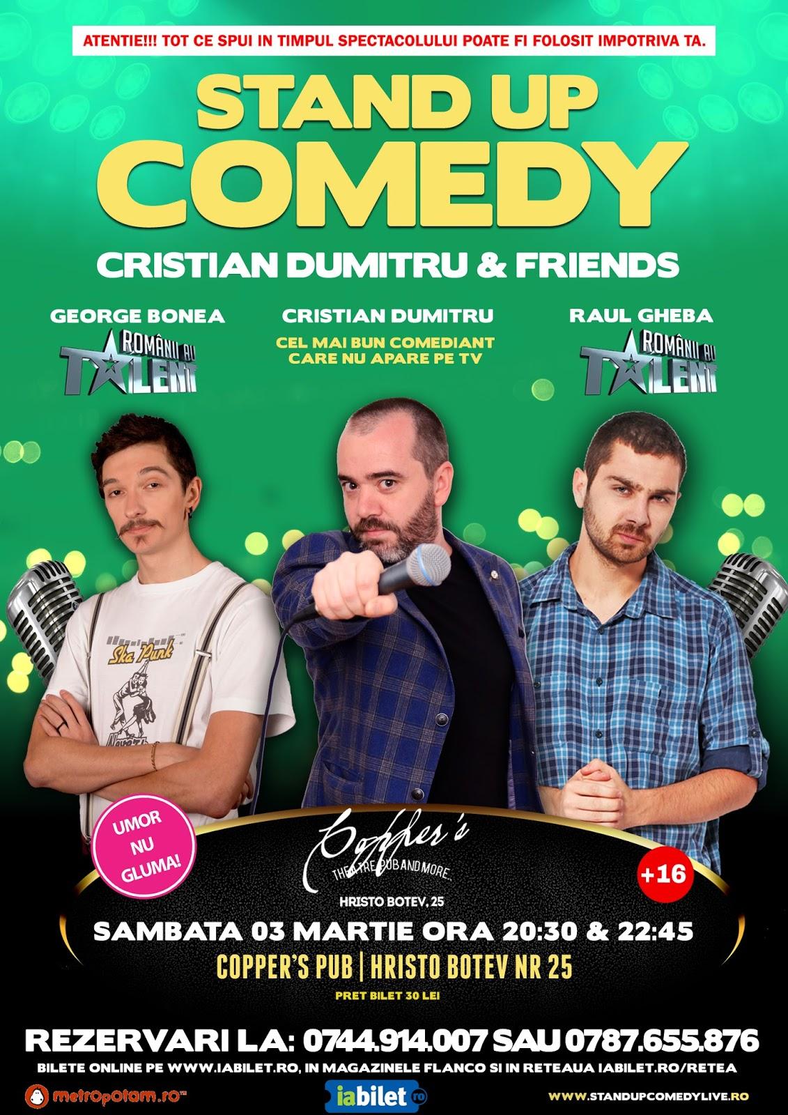 Stand-Up Comedy Bucuresti Sambata 3 Martie
