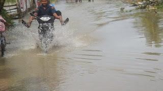 Tiga Desa di Sakti Pidie Mulai Terendam Banjir Luapan, Akibat Tumpukan Rumpun Bambu
