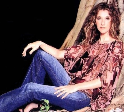 Foto de Céline Dion joven en sesión fotográfica