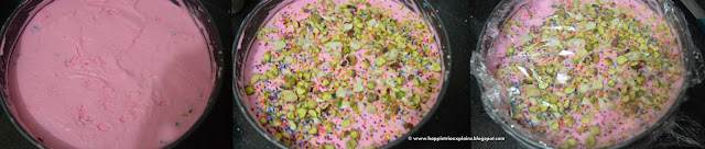 Step 6 - Rose Vanilla Ice creamc ake