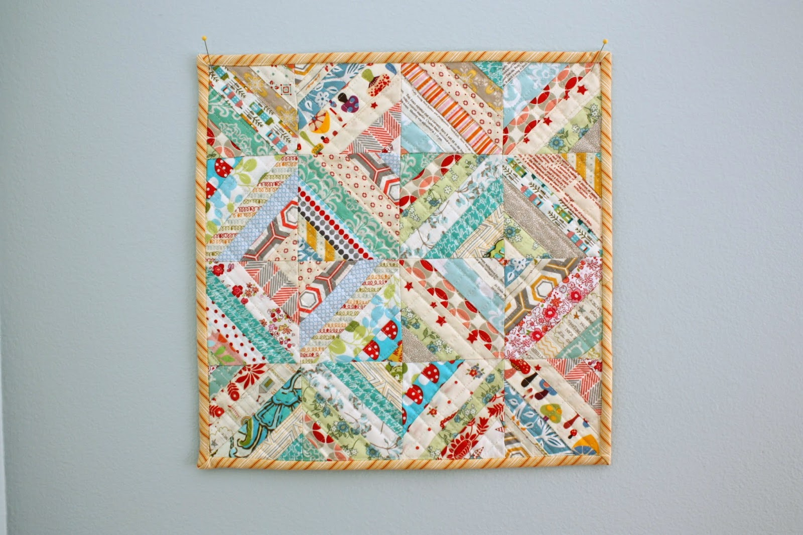 Easy Scrap fabric quilt block - Diary of a Quilter - a quilt blog : fabric quilting - Adamdwight.com