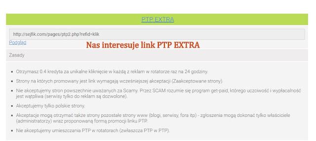 Sejfik, PTP EXTRA