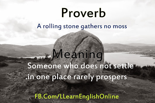 rolling stone gather no moss essay A rolling stone gathers no moss less attachments, means lesser things to worry about you don't attach yourself to things when you are on the go all.