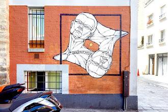 Sunday Street Art : Temié Futi X-Bar - cour de l'Ameublement - Paris 11