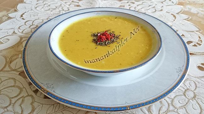 Buğdaylı Kırmızı Mercimek Çorbası - inanankalpler.net