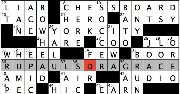 Rex Parker Does The NYT Crossword Puzzle In Relaxed