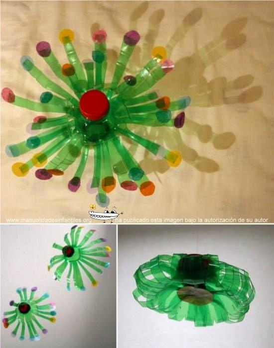 Adornos de navidad con materiales reciclados for Adornos navidenos hechos con botellas plasticas