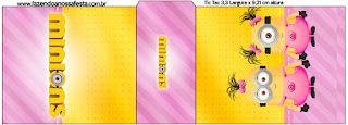 Etiqueta Tic Tac para imprimir gratis de Minions Chicas.